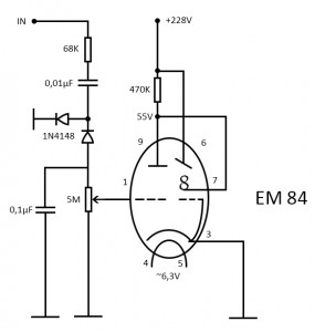 VU-meter with EM84 tube – AntiMath