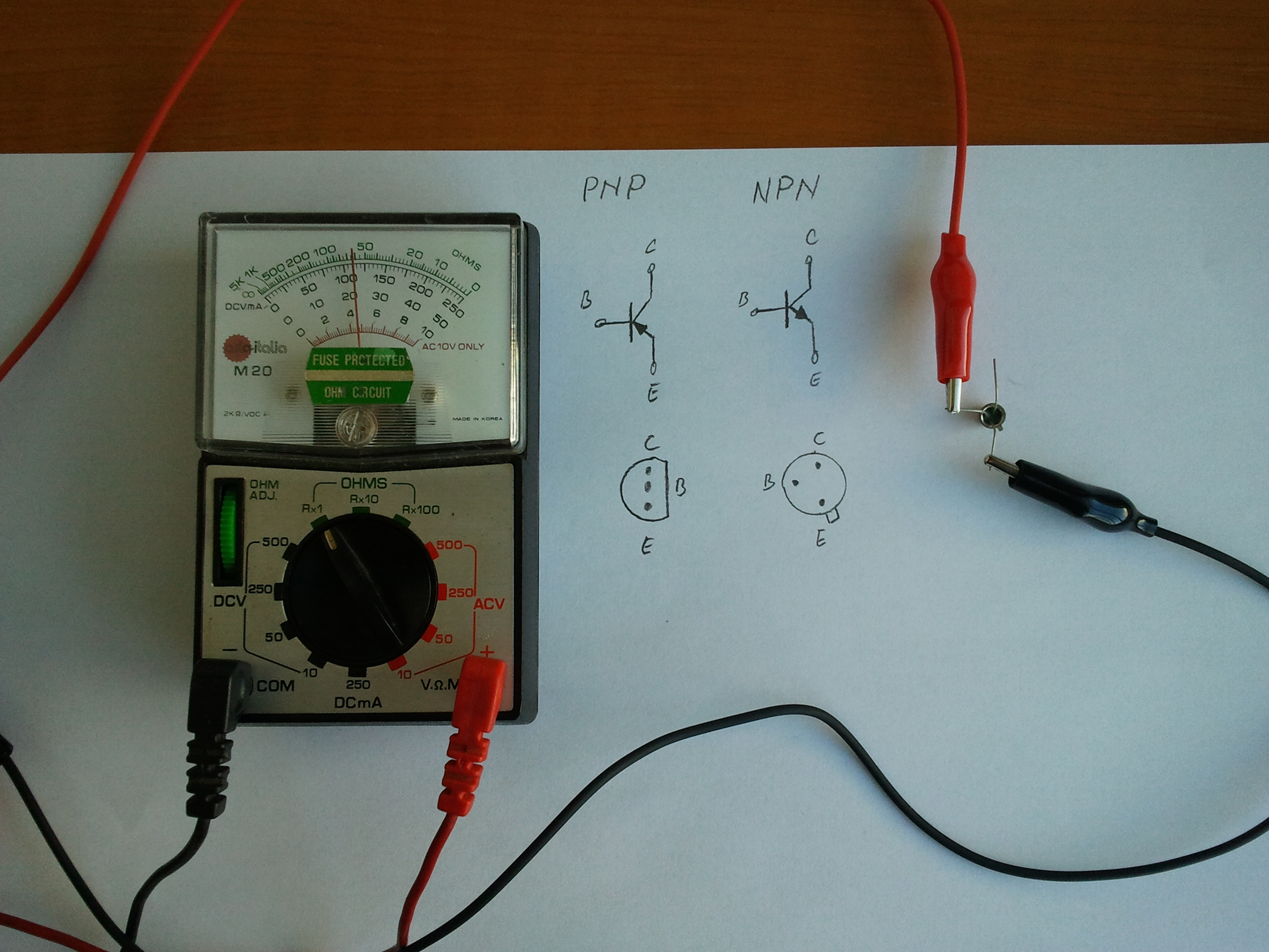 How To Test A Bipolar Transistor on ohmmeter in circuit diagram